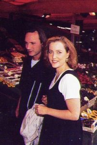 Gillian Anderson with her ex-husband Clyde