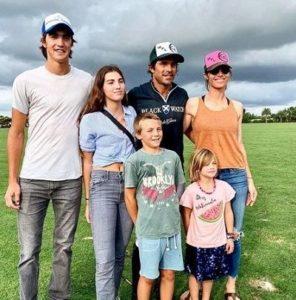 Delfina Blaquier with her husband & children