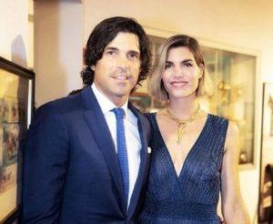 Delfina Blaquier with her husband