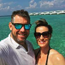 Lee Westwood with his wife Helen
