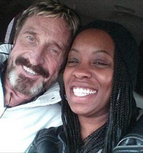 John McAfee with his wife Janice