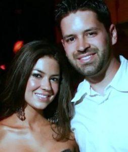 Kathryn Mayorga with her husband