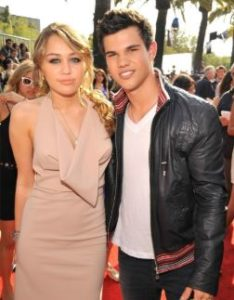 Taylor Lautner with his ex-girlfriend Liliana