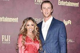Vanessa Morgan with her husband Michael