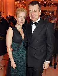 Gillian Anderson with her boyfriend Peter
