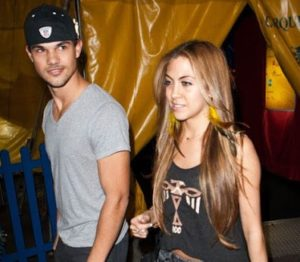 Taylor Lautner with his ex-girlfriend Sara