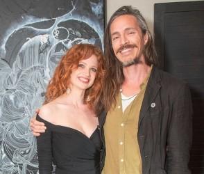Brandon Boyd with his girlfriend Sarah
