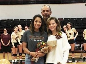 Sydel Curry with her parents