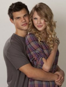 Taylor Lautner with his ex-girlfriend Taylor Swift