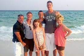 Meyers Leonard with his family