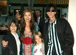 Paulina Porizkova with her husband & kids