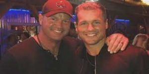 Colton Underwood with his father