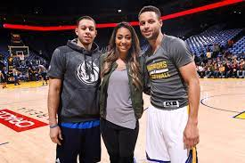 Sydel Curry with her brothers