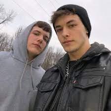 Griffin Johnson with his boyfriend