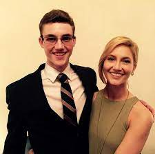 Kristin Taylor with her brother