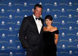 Lee Westwood with his ex-wife Laurae