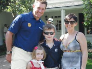 Lee Westwood with his ex-wife & children