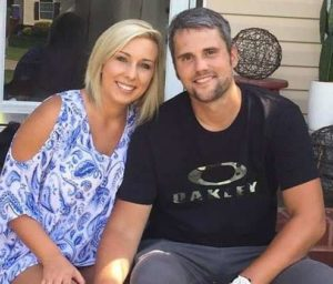 Ryan Edwards with his wife