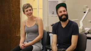 Jack Conte with his wife