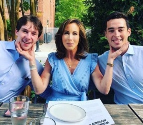 Mary Bubala with her sons