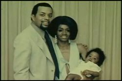 Sean Combs with his parents