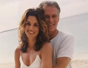 Cindy Crawford with her father