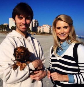 Laura Rutledge with her brother David