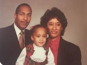 Amanda Seales with her parents