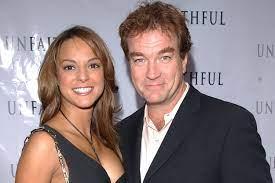 Eva LaRue with her ex-husband John