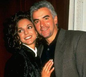 Eva LaRue with her ex-husband John O'Hurley
