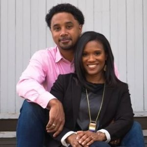 Wynter Pitts with her husband