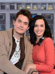 John Mayer with his ex-girlfriend Katy