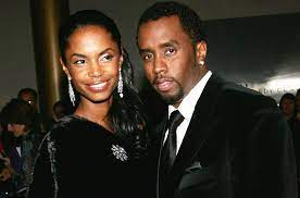 Sean Combs with his ex-girlfriend Kim
