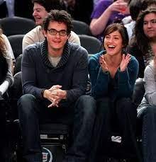 John Mayer with his ex-girlfriend Minka