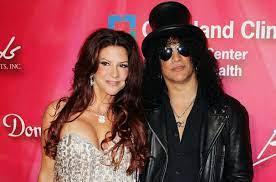 Slash with his ex-wife Perla