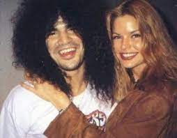 Slash with his ex-wife Renee