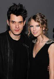 John Mayer with his ex-girlfriend Taylor