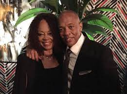 Dr. Dre with his mother
