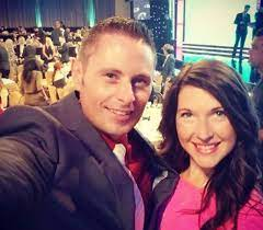 Grant Thompson with his wife
