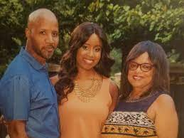 Pam Oliver with her parents