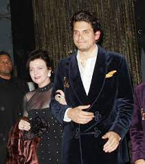 John Mayer with his mother