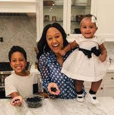 Tia Mowry with her kids
