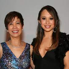 Cheryl Burke with her mother