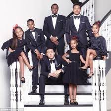 Sean Combs with his children