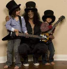 Slash with his sons