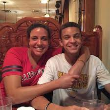 Larry Nance Jr. with his sister