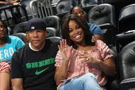 Pam Oliver with her husband