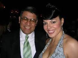 Sara Ramirez with her father