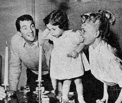 Deana Martin with her parents