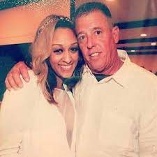 Tia Mowry with her father
